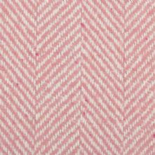 Herringbone Wool Blend Tweed Fabric in Pink and Cream 150cm Wide